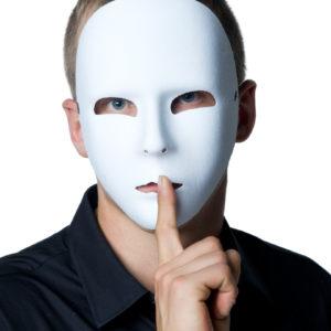 Ansiktsmask vit