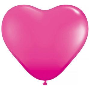 Ballong Rosa hjärta 100-pack