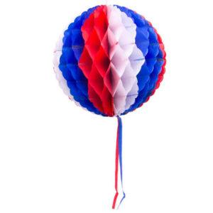Dekorationsboll röd/vit/blå 30cm