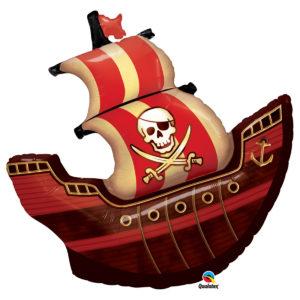 Folieballong Piratskepp