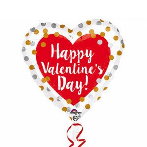 Folieballong happy valentines day