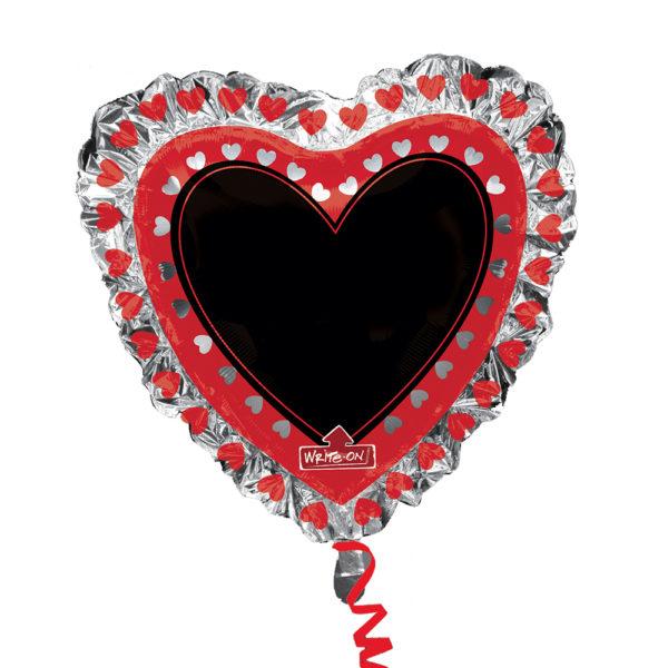 Folieballong hjärta trefärgad