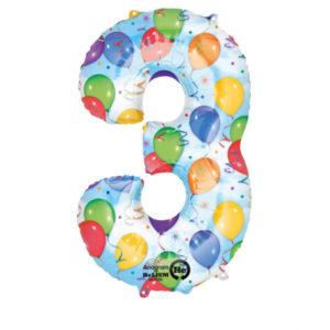 Folieballong siffra ballongmönster-3