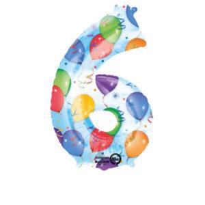 Folieballong siffra ballongmönster-6