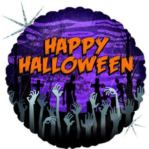 Folieballong zombie halloween 45cm