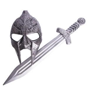 Gladiator svärd och mask