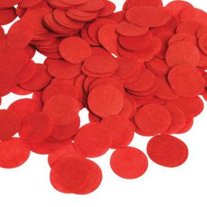 Konfetti röd papper