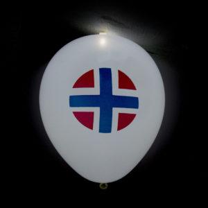 LED-ballong Norge 4st