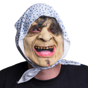 Mask Häxa med sjal
