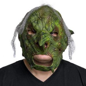 Mask Hår grön