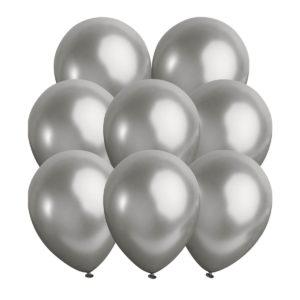 Metallic ballonger silver 10 st