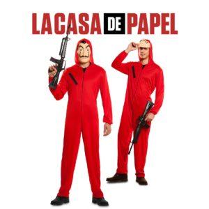 La Casa de Papel dräkt med mask XL