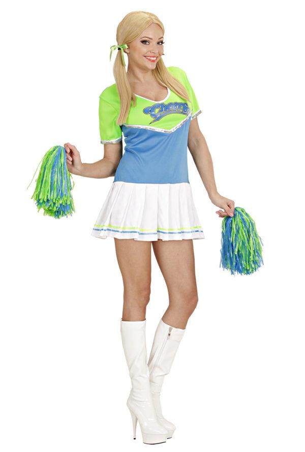 Cheerleaderklänning Grön/Turkos M