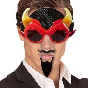 Djävulsglasögon med horn och skägg