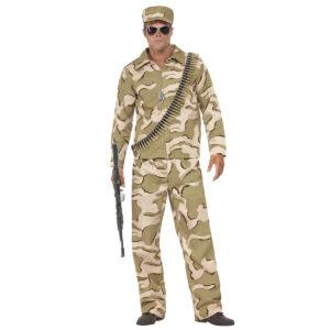 Dräkt militärkostym med keps-L