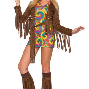 Hippieklänning kort