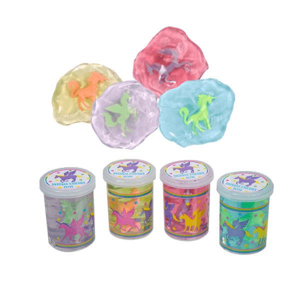 Slime enhörning glitter-Lila