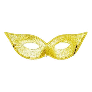 Ögonmask Spetsig - Guld