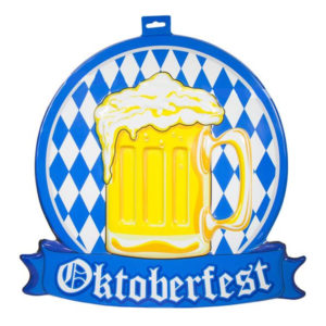 Ölglas 3D Väggdekoration Oktoberfest