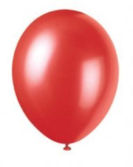 50 pack Ballonger röd