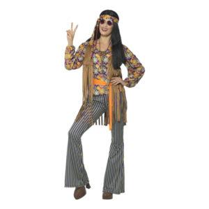 60-tals Hippietjej Maskeraddräkt - Medium