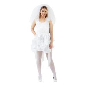 80-tals Brudklänning Maskeraddräkt - Medium