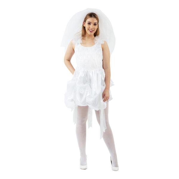 80-tals Brudklänning Maskeraddräkt - Small