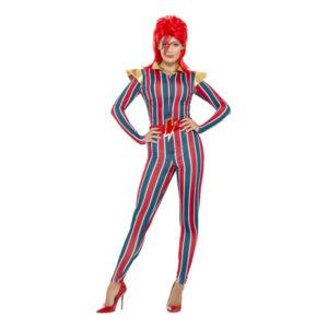 80-tals Miss Space Popstjärna Maskeraddräkt - Medium