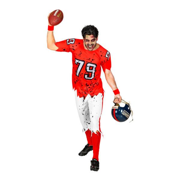 Amerikansk Fotbollsspelare Zombie Maskeraddräkt - Medium