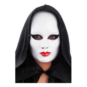 Ansiktsmask Vit Dam i Plast - One size
