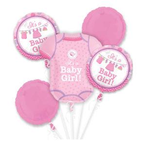 Ballongbukett Baby Girl - 5-pack