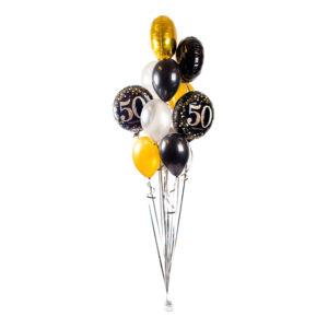 Ballongbukett Happy Birthday Sparkling 50