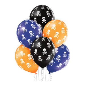 Ballonger Döskallar Halloween Premium - 6-pack