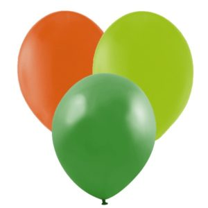 Ballonger Grön, Lime, Orange