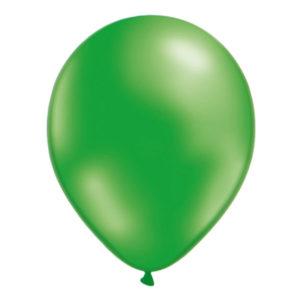 Ballonger Gröna Metallic - 100-pack