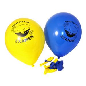 Ballonger Grattis till Examen - 12-pack