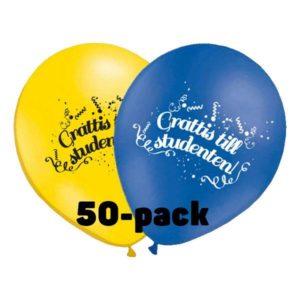 Ballonger Grattis till Studenten! - 50-pack