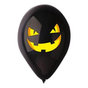 Ballonger Halloween Pumpa Svart - 10-pack