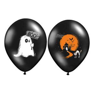 Ballonger Halloween Svart/Orange Pastell - 6-pack