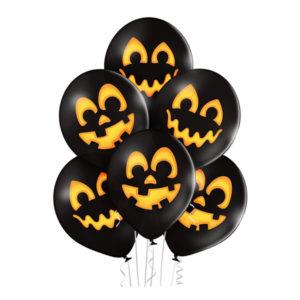 Ballonger Halloweenpumpor Premium - 6-pack