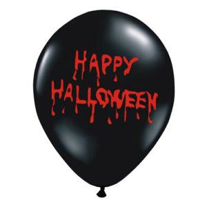 Ballonger Happy Halloween Blod - 6-pack