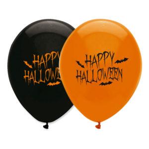 Ballonger Happy Halloween Orange/Svart - 100-pack