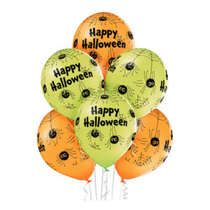 Ballonger Happy Halloween Spindlar Premium - 6-pack