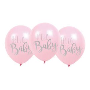 Ballonger Hello Baby Rosa - 6-pack
