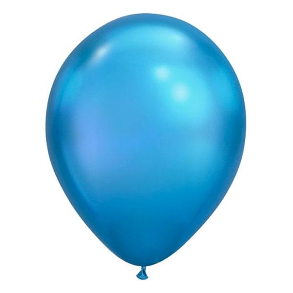 Ballonger Krom Blå - 100-pack