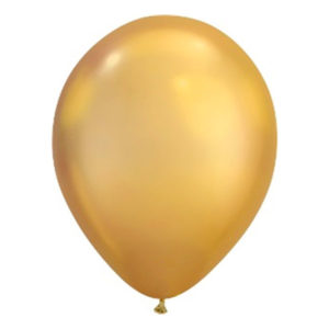 Ballonger Krom Guld - 100-pack