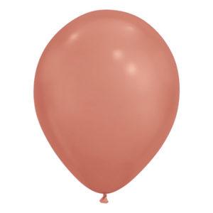 Ballonger Krom Roséguld - 50-pack