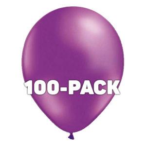 Ballonger Lila Metallic - 100-pack