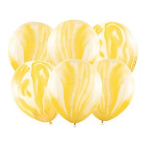 Ballonger Marble Gul - 6-pack