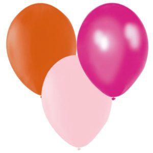Ballonger Orange, Mörkrosa, Rosa